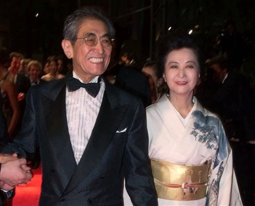 "© In this May 16, 2000 file photo, Japanese director Nagisa Oshima arrives with his wife Akiko Koyama at the Festival Palace to attend the screening of his film ""Gohatto"" in competition at the 53rd International Film Festival in Cannes."