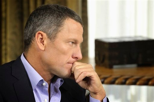 "© In this Monday, Jan. 14, 2013, file photo provided by Harpo Studios Inc., Lance Armstrong listens as he is interviewed by talk show host Oprah Winfrey during taping for the show ""Oprah and Lance Armstrong: The Worldwide Exclusive"" in Austin, Texas."