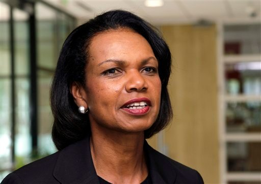 In this July 19, 2012, file photo, Condoleezza Rice talks on the Stanford University campus in Palo Alto, Calif. Rice has joined CBS News as a contributor.