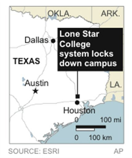 Lone Star College system locks down its north Harris campus amid reports of a shooter on campus.