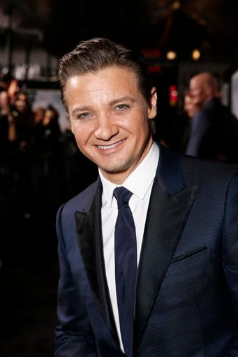 "© Jeremy Renner arrives at the premiere of ""Hansel & Gretel Witch Hunters"" on Thursday Jan. 24, 2013, in Los Angeles. (Photo by Todd Williamson/Invision/AP)"