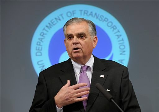 © In this Jan. 11, 2013 photo, Transportation Secretary Raymond LaHood speaks during a news conference at the Transportation Department in Washington, discussing a comprehensive review of Boeing 787 critical systems, including the design.