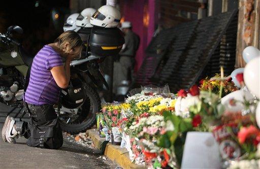 © Ines Fernandes da Silveira, aunt of victim Taise Carolina Vinhas da Silveira, 27, cries in front the Kiss nightclub in Santa Maria city, Rio Grande do Sul state, Brazil, Monday, Jan. 28, 2013.