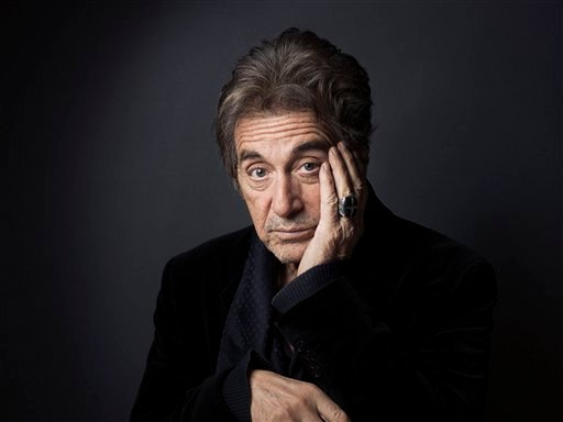 "© This Dec. 7, 2012 photo shows Al Pacino in New York. Pacino stars in the new film, ""Stand Up Guys."" (Photo by Victoria Will/Invision/AP)"