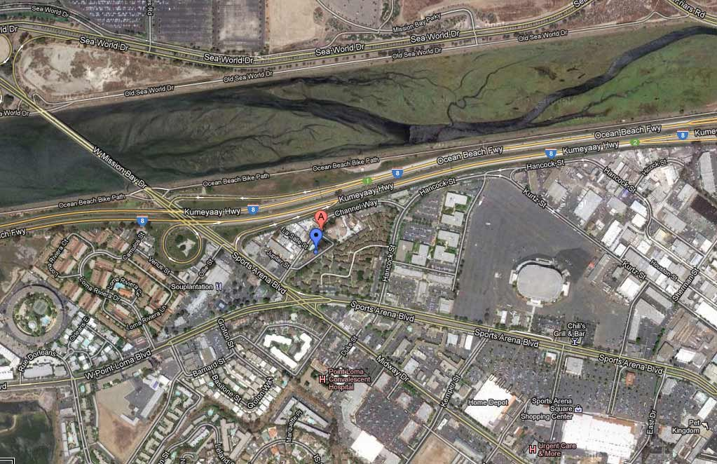 This Google Maps image shows the 3300 block of Channel Way, where an explosion occurred Wednesday.