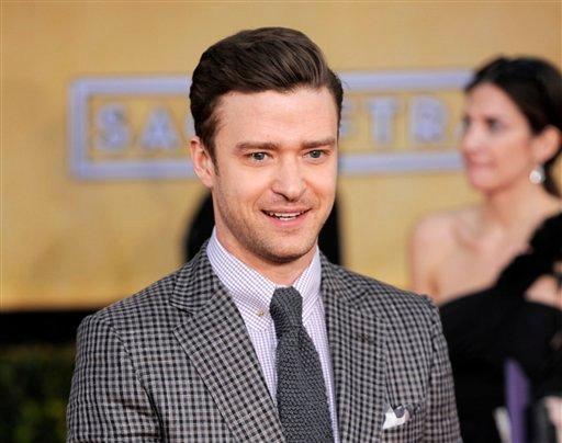 © This Jan. 27, 2013 file photo shows actor-singer Justin Timberlake at the 19th Annual Screen Actors Guild Awards at the Shrine Auditorium in Los Angeles.