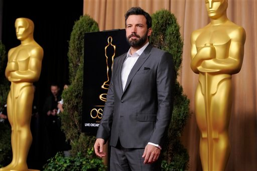 Ben Affleck, nominated for best picture for &quot;Argo,&quot; arrives at the 85th Academy Awards Nominees Luncheon at the Beverly Hilton Hotel on Monday, Feb. 4, 2013, in Beverly Hills, Calif. (Photo by Chris Pizzello/Invision/AP)