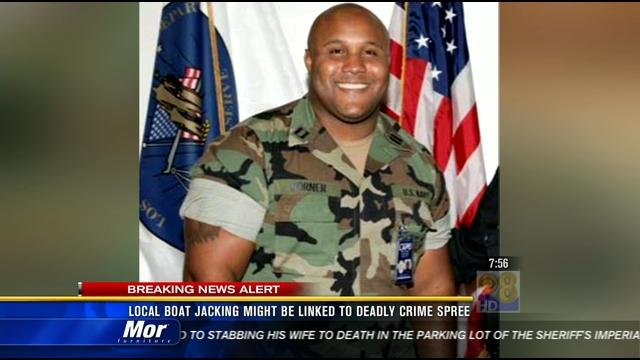  Video screen image of former Los Angeles officer Christopher Dorner suspected of killing a couple over the weekend and opening fire on four officers early Thursday, February 7, 2013.