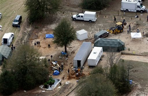 Authorities continue their investigation at the site in Midland City, Ala., on Friday, Feb. 8, 2013 where a five year old boy was held hostage in an underground bunker before being rescued Monday. (AP)