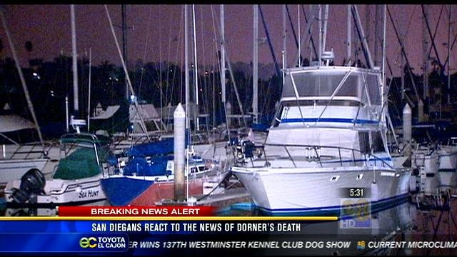 Police say Dorner was linked to an attempted boat jacking Wednesday, February 6 at 10:30 p.m. at the Southwest Marina near Shelter Island in San Diego. (Screen grab from News 8 report))