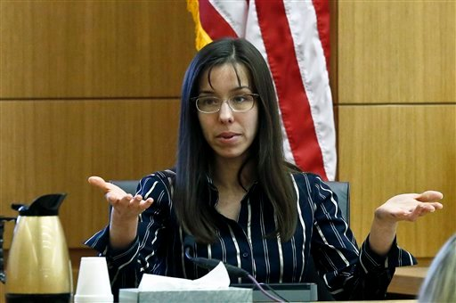 FILE --In a Feb. 13, 2013 file photo Jodi Arias answers a question from one of her attorneys in Maricopa County Superior Court during her murder trial in Phoenix. (AP)