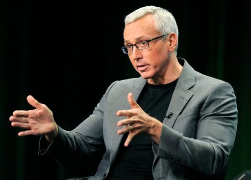 "FILE - This Aug. 4, 2011 file photo shows Dr. Drew Pinsky, host of the CW television series ""Dr. Drew's Lifechangers,"" during a panel discussion on the show at the CW Showtime summer press tour in Beverly Hills, Calif. (AP)"