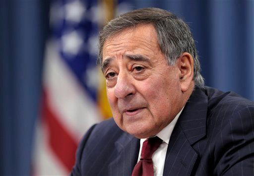 © In this Feb. 13, 2013, file photo, Defense Secretary Leon Panetta speaks during his last news conference as defense secretary at the Pentagon in Washington.