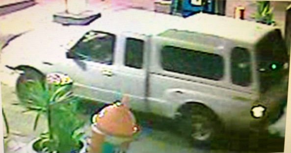 © Photos released by San Diego police show the suspect and the suspect's vehicle wanted in a brutal crowbar attack.