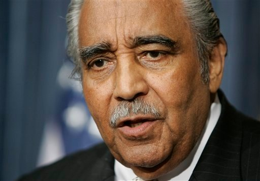 © In this Jan. 11, 2007, file photo Rep. Charles Rangel, D-N.Y., speaks about a bill that would re-institute the military draft on Capitol Hill in Washington.