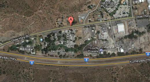 This Google Maps image shows the 15200 block of Olde Highway 80 in Flinn Springs.