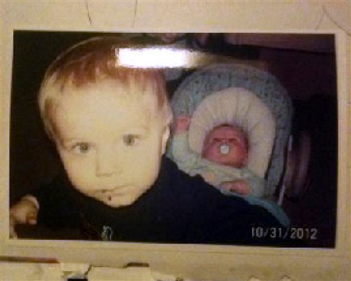 Photo released by the Connecticut State Police during an Amber Alert Feb. 26, 2013, shows Alton Perry, 6, left, and Ashton Perry, 2 months old, right, who were taken from their daycare by their grandmother. (AP Photo/Connecticut State Police)
