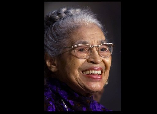 June 15, 1999 file photo: Rosa Parks smiles during a Capitol Hill ceremony where Parks was honored with the Congressional Gold Medal in Washington. (AP Photo/Khue Bui, file)
