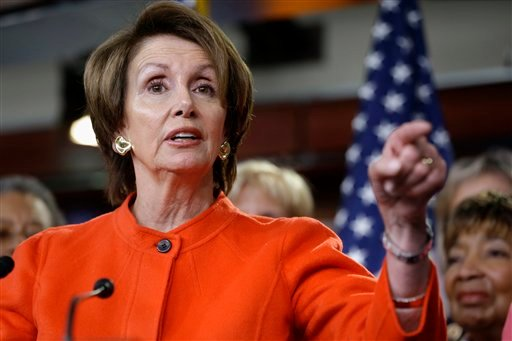 In this Jan. 23, 2013, file photo, House Minority Leader Nancy Pelosi of Calif., holds a news conference on Capitol Hill in Washington, to discuss the reintroduction of the Violence Against Women Act. (AP Photo/Jacquelyn Martin, File)