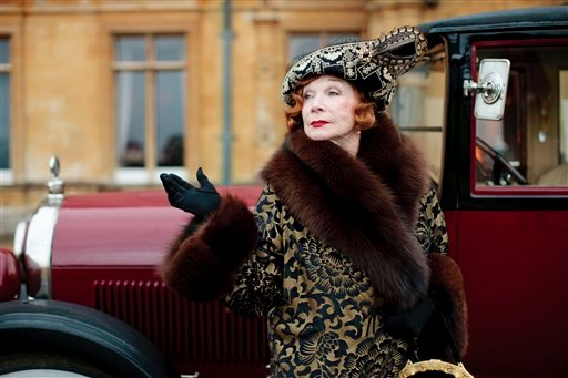 "© This undated publicity photo provided by PBS shows Shirley MacLaine as Martha Levinson from the TV series, ""Downton Abbey."""