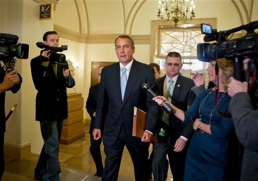 ©  In this March 1, 2013, file photo Speaker of the House John Boehner, R-Ohio, arrives at the Capitol after meeting with President Barack Obama.