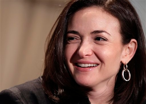 In this Thursday, April 7, 2011, file photo, Sheryl Sandberg, Facebook's chief operating officer, speaks at a luncheon for the American Society of News Editors in San Diego.(AP Photo/Gregory Bull, File)