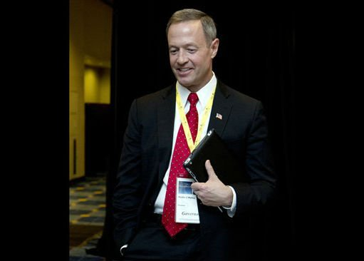 ? Maryland Gov. Martin O'Malley attends the National Governors Association 2013 Winter Meeting in Washington, in this Feb. 24, 2013 file photo.