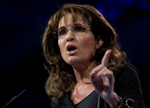 ? Former Alaska Gov. Sarah Palin speaks at the 40th annual Conservative Political Action Conference in National Harbor, Md., Saturday, March 16, 2013.