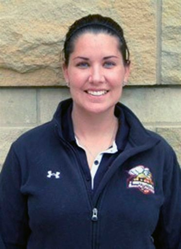 © This undated photo provided by Seton Hill University shows women's college lacrosse coach Kristina Quigley.