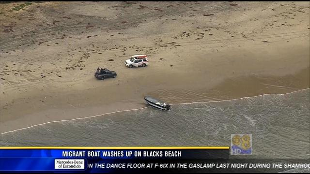 Migrant Boat Washes Up On Black S Beach Cbs News 8 San