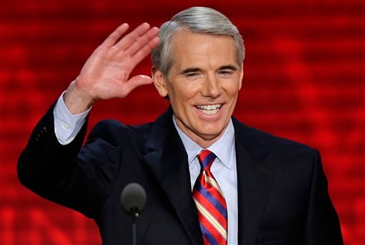 FILE - In this Aug. 29, 2012, file photo, Sen. Rob Portman, R-Ohio, waves to the delegates during the Republican National Convention in Tampa, Fla. (AP)