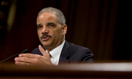 © In this March 6, 2013, file photo U.S.Attorney General Eric Holder testifies on Capitol Hill in Washington.