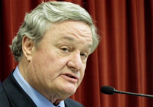 In this April 16, 2012 file photo North Dakota Gov. Jack Dalrymple speaks in Bismarck, N.D.