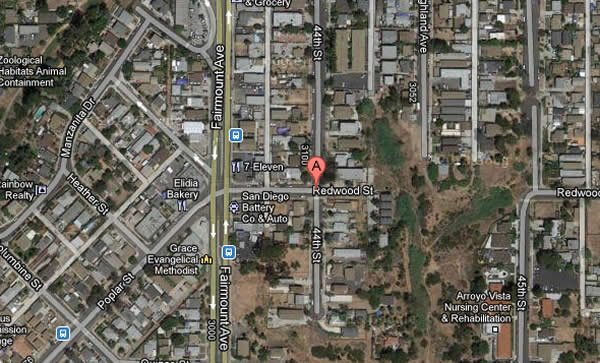 This Google Maps image shows the 3100 block of 44th Street in the Swan Canyon neighborhood.