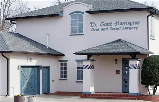 FILE - This March 28, 2013 file photo shows the dental offices of Dr. Scott Harrington in Tulsa, Okla. (AP)
