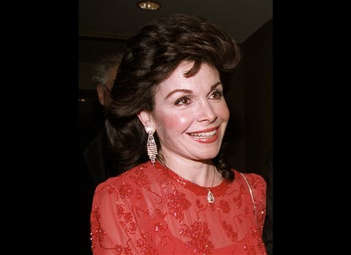 In this Oct. 20, 1990 file photo, actress and former Mickey Mouse Club member Annette Funicello arrives for the 15th annual Italian American Foundation dinner in Washington.