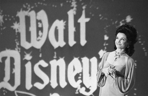 "In this Jan. 3, 1978 file photo, actress Annette Funicello recalls moments when she played a ""Mouseketeer"" on ABC's first successful daytime television show,""The Mickey Mouse Club"" in Los Angeles."