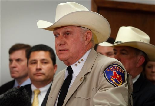 Sheriff David Byrnes speaks as local, state and federal law enforcement officers hold a news conference in Kaufman, Texas on Thursday, April 18, 2013. (AP)
