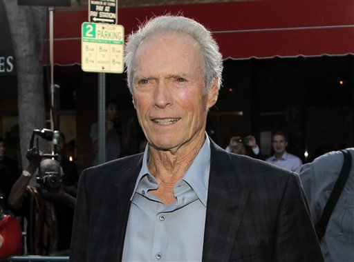 "This Sept. 19, 2012 file photo shows actor-director Clint Eastwood at the premiere of ""Trouble With the Curve"" at the Westwood Village Theater in Los Angeles."