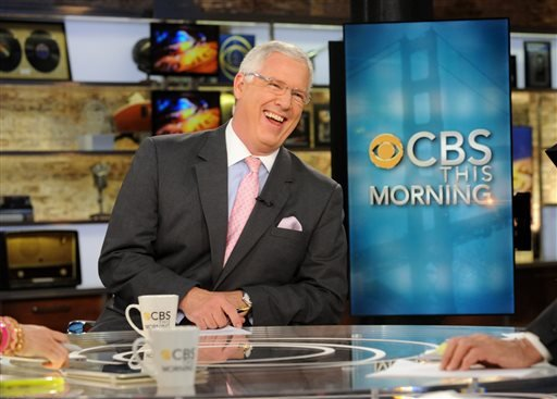 "This April 18, 2012 photo released by CBS shows John Miller on the set of ""CBS This Morning,"" in New York."