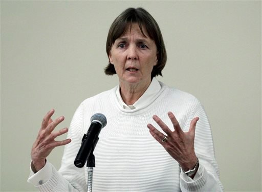 "In this April 26, 2013 file photo, Judy Clarke, a defense lawyer whose high-profile clients include ""Unabomber"" Ted Kaczynski, Olympic bomber Eric Rudolph, and Tucson shooter Jared Lee Loughner, speaks at Loyola Law School in Los Angeles. (AP)"