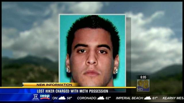 Nicolas Cendoya, 19, was charged with possession of a controlled substance after authorities allegedly found methamphetamine in his car during the search for him and his friend.