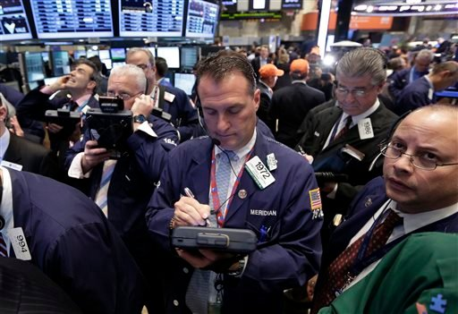 Stock markets edged higher on Friday May 3, 2013 ahead of the release of the U.S. government's monthly unemployment report, a key measure of the health of the world's largest economy. (AP Photo/Richard Drew)