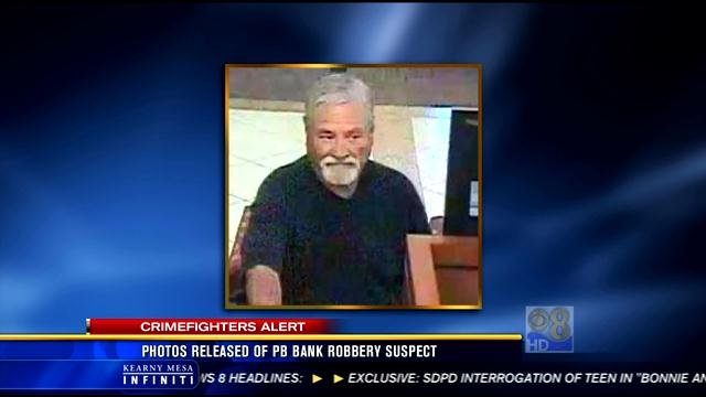 Photo of Friday's bank robbery suspect. A second female suspect is also being sought by police.