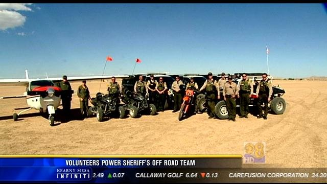 The San Diego Sheriff's Department's Off Road Enforcement Team - also known as ORET.