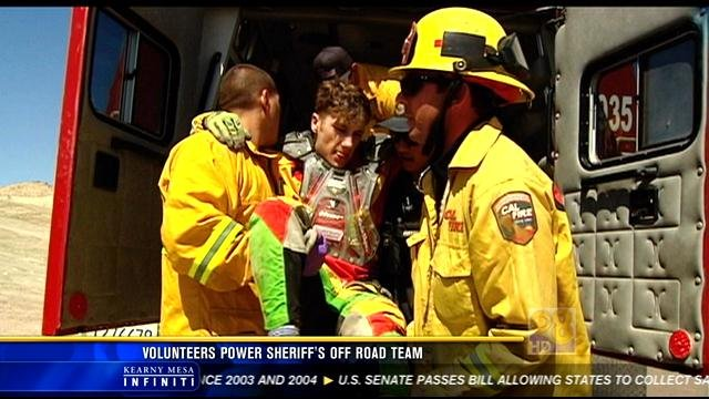 ORET, Cal Fire and EMTs respond to help an injured motorcycle rider.