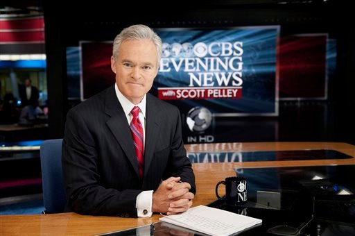 "In this photo released by CBS, ""CBS Evening News"" anchor Scott Pelley, is shown. Pelley says a recent rash of mistakes shows journalism's house is on fire. (AP)"