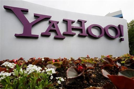 FILE - In this April 18, 2011 file photo, the Yahoo logo is displayed outside of the offices in Santa Clara, Calif. (AP Photo/Paul Sakuma, File)