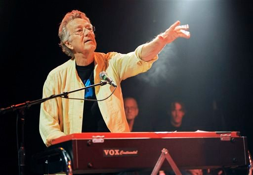 In this Aug. 16, 2012 file photo, Ray Manzarek of The Doors performs at the Sunset Strip Music Festival launch party celebrating The Doors at the House of Blues in West Hollywood, Calif.