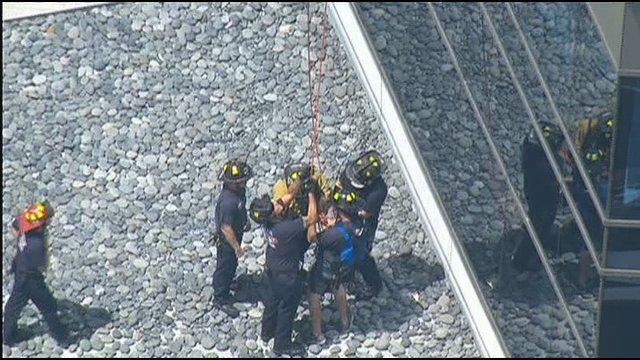 Images of the rescue from Chopper 8.